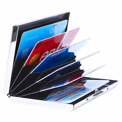 Mens Credit Card Wallet Holder Aluminum Metal RFID Blockin Slim Travel Protector