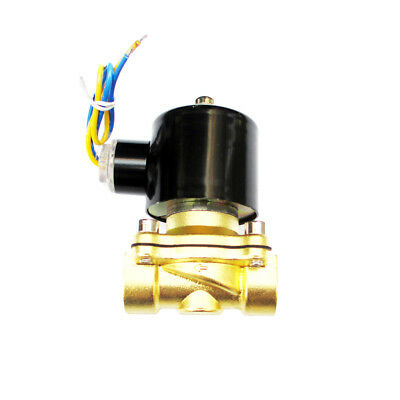 1/2 inch 12V DC Slim Brass Solenoid Valve Used with co2 Compressed Water Air Oil