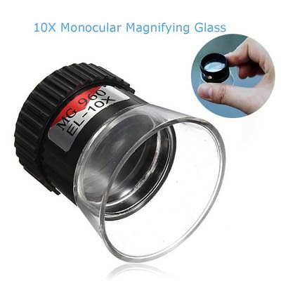 Portable Magnifier Microscope 10X Zoom Monocular Magnifying Glass Jewelry Loupe