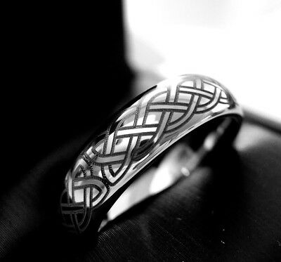 Tungsten Wedding Bands, Celtic Design Tungsten Ring, His and Her Promise Ring