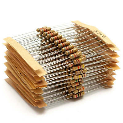 300 Pcs 0.31*0.15'' 1/2W Metal Film Resistor Assortment 30 Value Box Kit Set