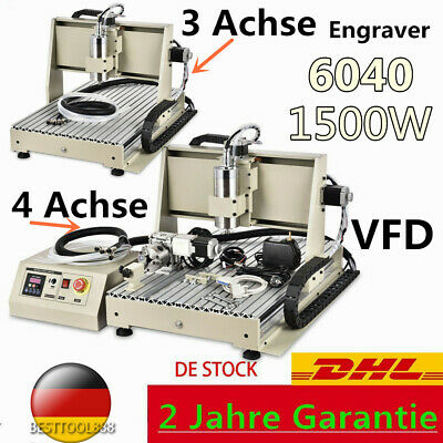 6040 1.5KW 4/ 3Achse CNC Graviermaschine FräSmaschine Carving Router  3D Cutting