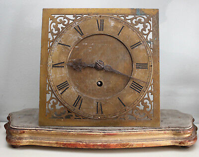A Good Antique Victorian Single Fusee Movement and Dial
