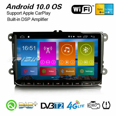 "9"" Android 8.1 Car GPS Stereo DAB+ 4G Satnav For VW Passat Golf Eos Jetta Touran"