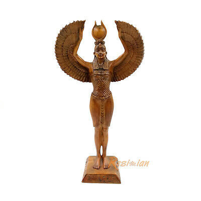 Isis Resin Figurine Ancient Egyptian Goddess Open Wings Statue Egypt Mythology