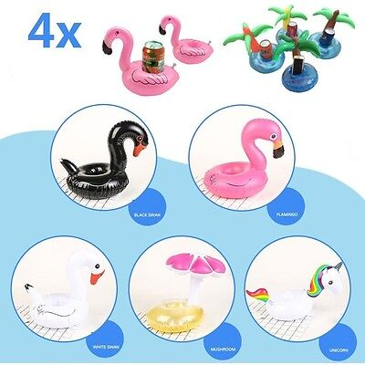 4x Swimming Inflatable Floating Drink Can Cup Holder Hot Tub Pool Beach Party
