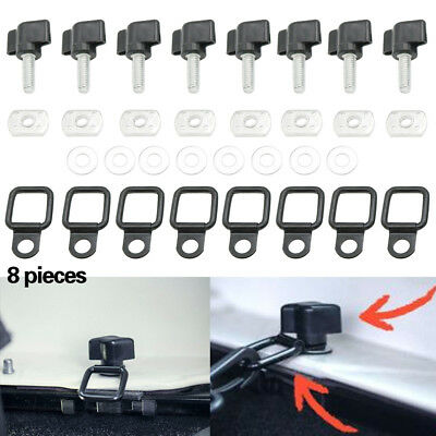 For Jeep Wrangler Universal Easy On Off Hard Top Fasteners Nuts Bolts for JK TJ