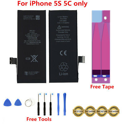 1560mAh Li-ion Internal Battery Replacement Flex Cable For iPhone 5S 5C + Tools