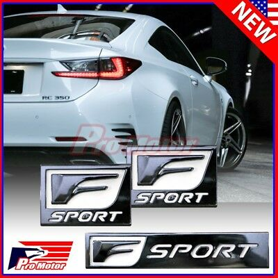 Fit Lexus F-Sport Trunk Fender Bumper Roof Left Right Badge Emblems F Sport Set