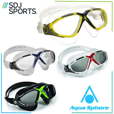 Aqua Sphere Vista Mens Adult UV Anti-Fog Swimming Triathlon Goggles