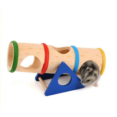 Seesaw Hamster Toys Small Pets Supplies Nest House Cage Wood Colorful Mouse Toy