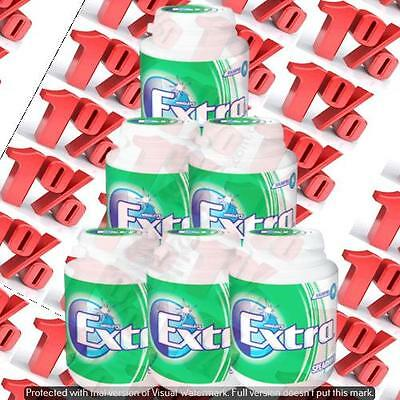 1x Wrigley's Extra Sugarfree Spearmint Gum Bottle - 6 X 64 G