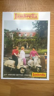 Get Around Better Travel Lambretta Scooter Vintage Ad Gallery Postcard M36PC
