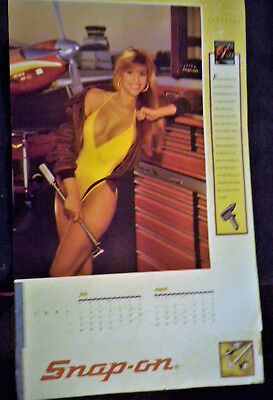 Bonus Vintage Snap-On Collector Edition Pin Up 1991 Calendar and Decal Combo