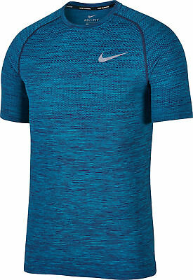 NIKE DRI FIT KNIT SS Men's Running Shirt NEW 833562 433 Blue