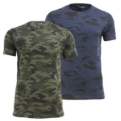 Mens T shirt Brave Soul Short Sleeved 'Disguise' Camouflage Military Army Top