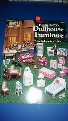 Doll House Furniture Plastic Canvas Leaflet American School of Needlework  #3086