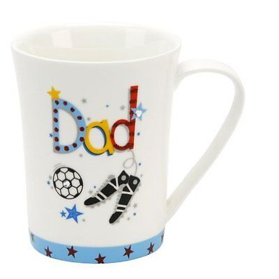 48 x Dad Ceramic Mugs With Foil & Crystal Design - Wholesale/Joblot/Carboot