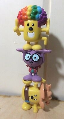 Wow Wow Wubbzy~3 Action Figures~Nick Jr~Stackable~Cowboy~Rainbow Hair~Walden