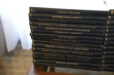 Vintage International Textbook Co. 1930's lot of 29 books electric, diesel