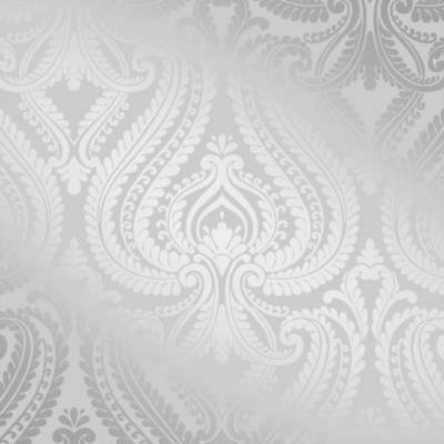 I Love Wallpaper Indulge Metallic Damask Soft Grey Silver ILW980043