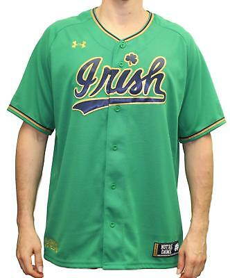 check out abe4f a3b59 NOTRE DAME FIGHTING Irish Under Armour NCAA Men's Baseball Jersey - Green