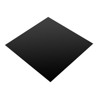 200x200x0.6mm Black Silicone Rubber Sheet Self Adhesive Pad High Temperature