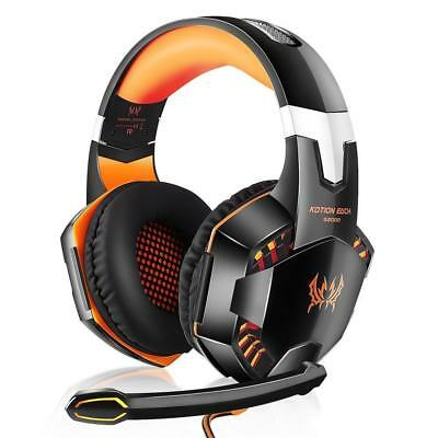 3.5mm Gaming Headset Mic LED Headphones Surround  for PC Laptop PS4 Xbox one 360