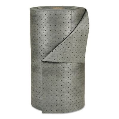 "Radnor 30"" X 150' Universal Gray Polypropylene Sorbent Perforated Roll"
