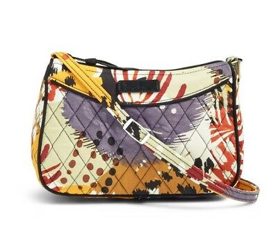 3eda34eed7c4 NWT VERA BRADLEY Little Crossbody Bag in Painted Feathers Ships Fast ...