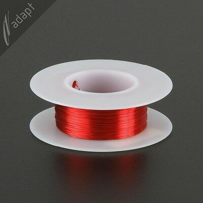 31 AWG Gauge Magnet Wire Red 250' 155C Solderable Enameled Copper Coil WindingS