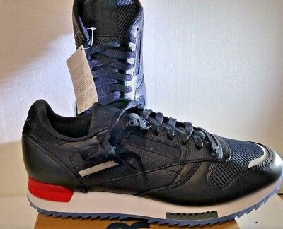 31d9ab05c2d MENS REEBOK CLASSIC CL LEATHER RIPPLE LOW BP BS5218 Black White Red Dust