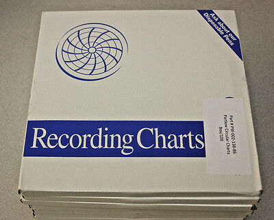 Partlow Circular Charts PW-002-138-86 100/box, -50C - 50C, 7 Day, 9.938""