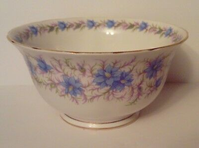 Tuscan - Fine Bone China England - Blue Love In The Mist - Bowl - MINT Condition