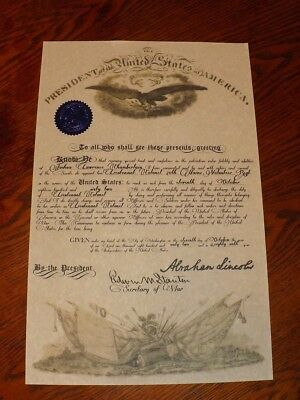 Civil War Union Officer's Commission (Personalized)