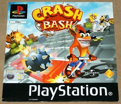 Crash Bash Ps1 Inlay Genuine Front Insert Only No Rear Inlay Case Disc Or Manual