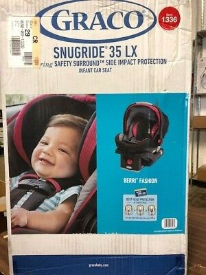 NEW Graco Snugride 35 LX  Infant Car Seat Safety Surround Side Impact Protection
