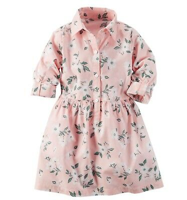 carters baby girls Floral Poplin Shirt Dress size 3t