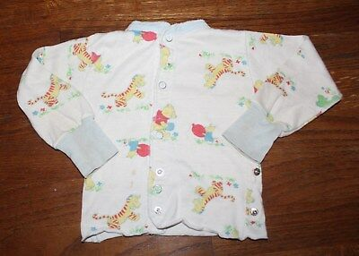 1970s Baby Boys' Girls' Disney Sears Winnie the Pooh Collection Pajama Top Fair
