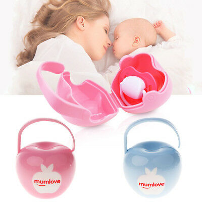 Baby Dummy Soother Container Holder Pacifier Portable Travel Case Storage Box