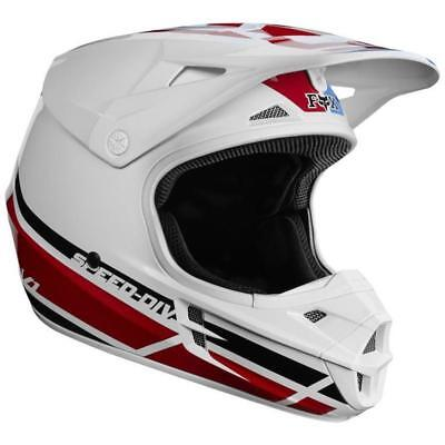Fox Racing V1 RWT Offroad MX Dirt ATV Motorcycle Helmet Red White True Large LG