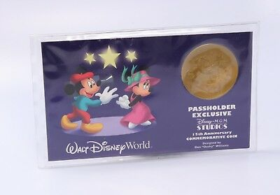 Walt Disney 1989-2004 15th Ann. Passholder exclusive Commemorative Coin Medal