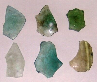 lot of 6 ancient roman glass fragments fantastico