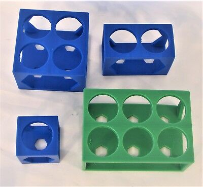Plastic Rack Stand For 50 ml 30 mm Jumbo Test Tube Centrifuge Tubes Lab Bench