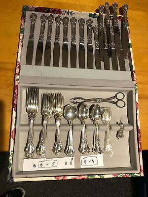 Chantilly by Birks Canada Sterling Silver Flatware Set 8 Service 60 Pcs Dinner