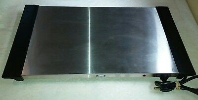 """Cadco WT-10S 26"""" Electric Stainless Steel Countertop Buffet Warming Shelf - NICE"""