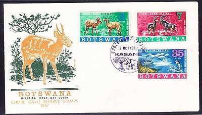 Botswana 1967 Chobe Game Reserve First Day Cover