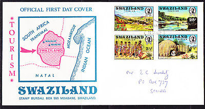 Swaziland 1972 Tourism First Day Cover Addressed