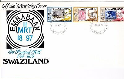 Swaziland 1979 Sir Rowland Hill First Day Cover Unaddressed