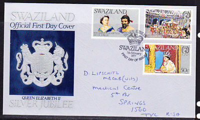 Swaziland 1977 Silver Jubilee First Day Cover addressed